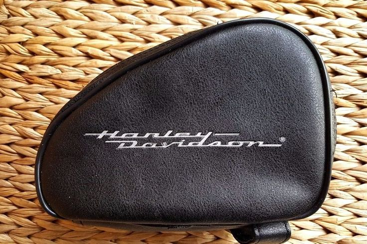 Harley Davidson Genuine Leather Storage Pouch Bag Black  | eBay Motors, Parts & Accessories, Motorcycle Accessories | eBay!