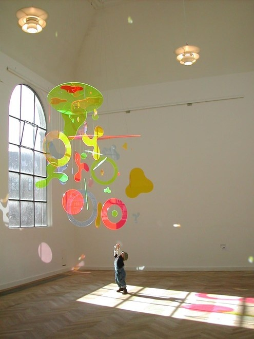 Acrylic mobile by Danish artist Karin Olesen