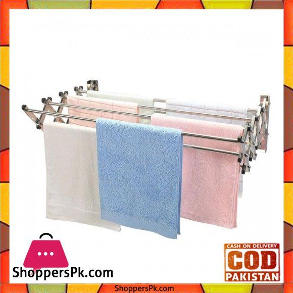 On Sale: Aluminium Wall Mounted Clothes Dryer 2 Feet Price Rs. 1500 https://www.shopperspk.com/product/aluminium-wall-mounted-clothes-dryer-2-feet/