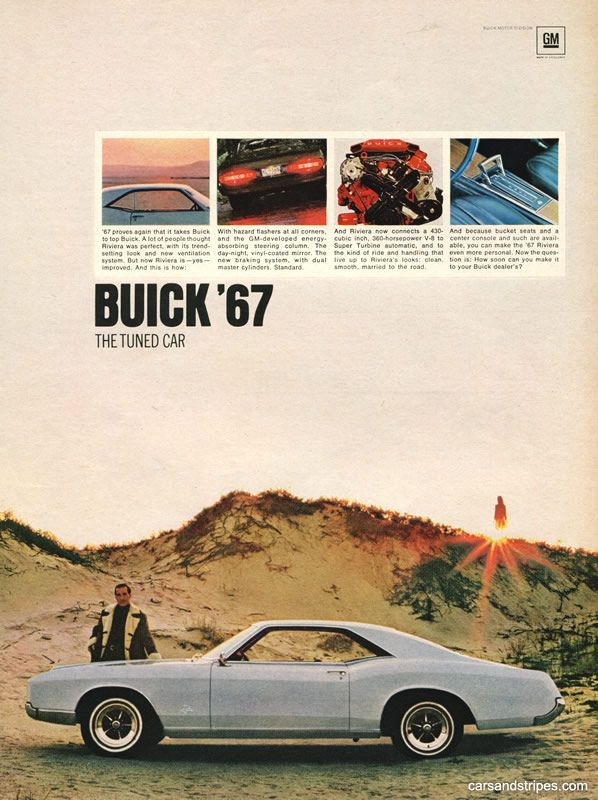 1967 Buick Riviera - The Tuned Car - Original Ad