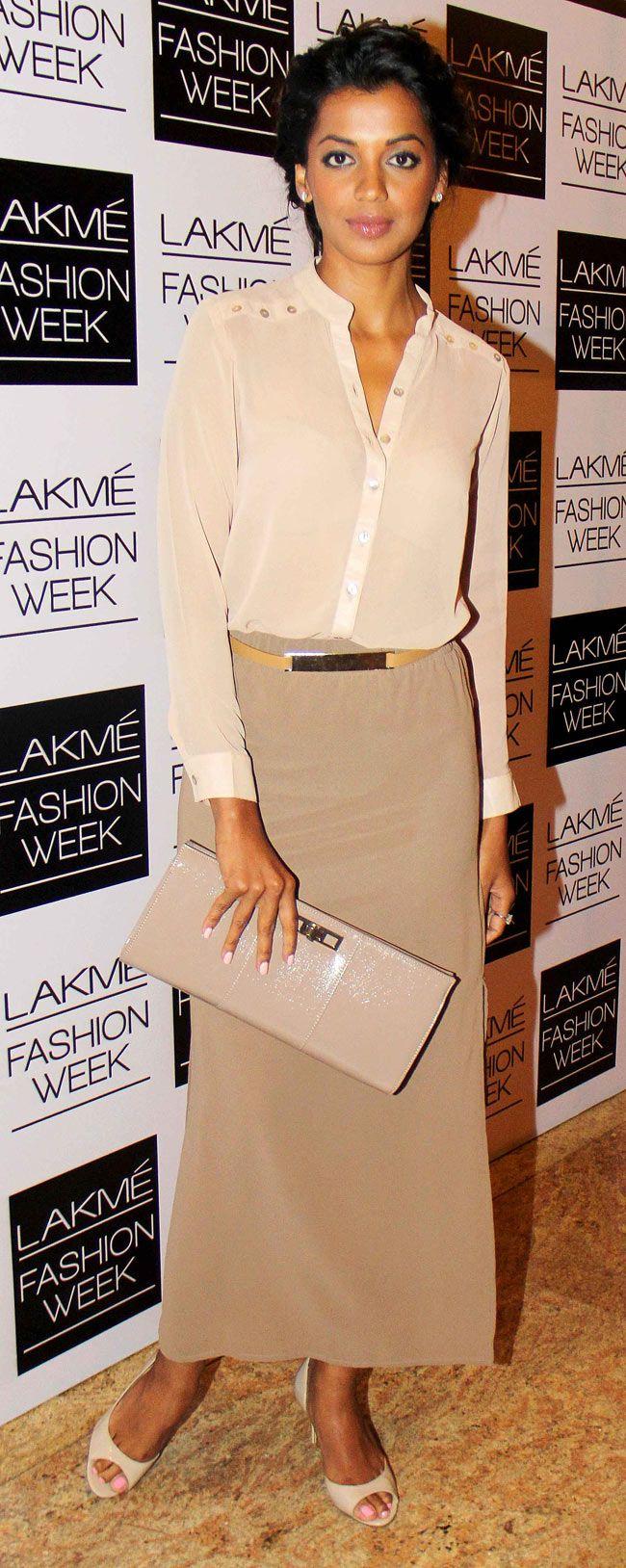 Mugdha Godse on Day 3 of the Lakme Fashion Week 2014 #Style #Bollywood #Fashion #Beauty #LFW2014