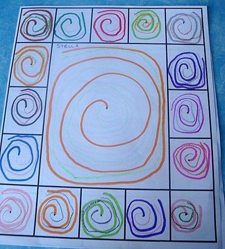 Variante: Tirar el dado e ir dibujando el trazo obtenido en cada casilla y se van reforzando trazos