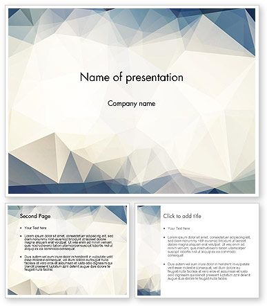 hipster triangles pattern powerpoint template 12833 theme 2017
