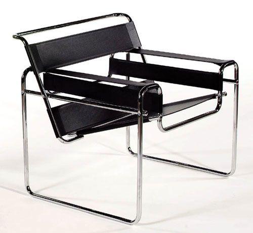 A famosa cadeira Wassily, desenhada por Marcel Breuer, 1925/26. A cadeira Wassily é hoje uma das cadeiras de autor mais famosas do mundo.