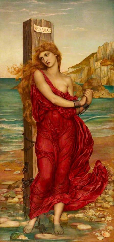 The Martyr (Nazuraea) by Evelyn De Morgan, 1880