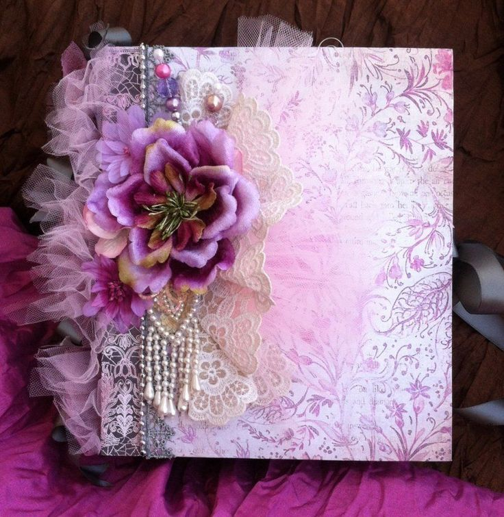 """Sophisticated Lady "" OOAK Premade Large Scrapbook Album by Scrap Couture, TPHH"