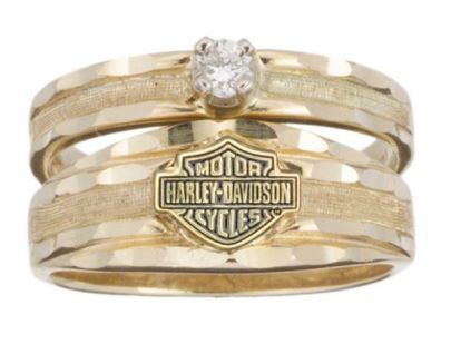 Tie The Knot With A Harley Davidson Gold Ring