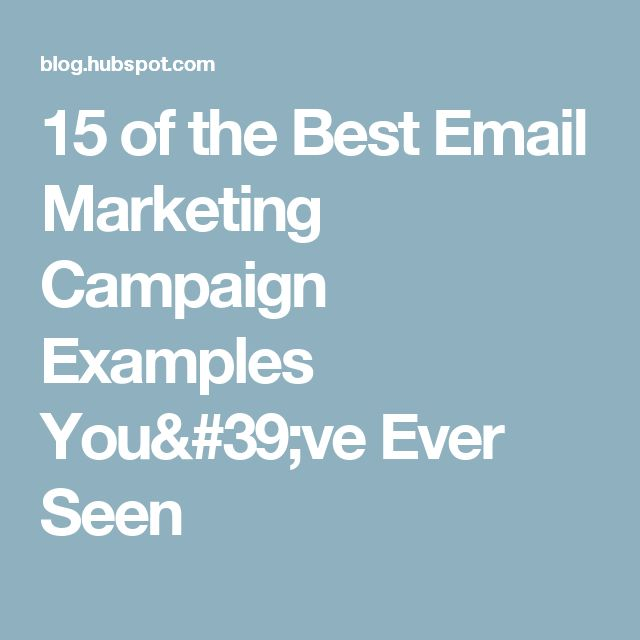 sample email marketing campaign