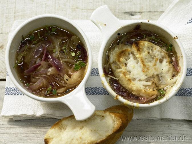 Zwiebelsuppe - smarter - Kalorien: 344 Kcal   Zeit: 50 min.  Ein französischer Klassiker unter den Suppen!
