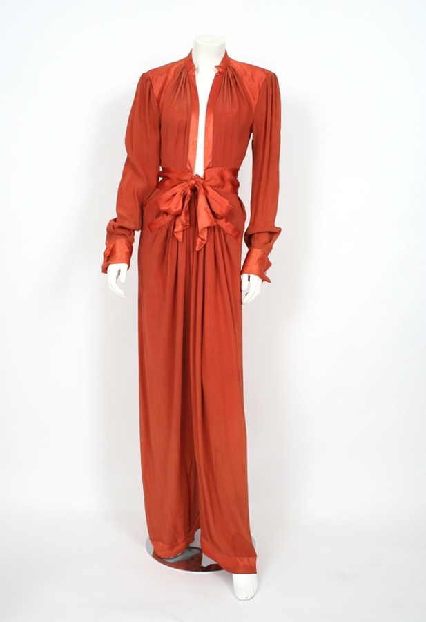 Ossie Clark Burnt Orange Jumpsuit