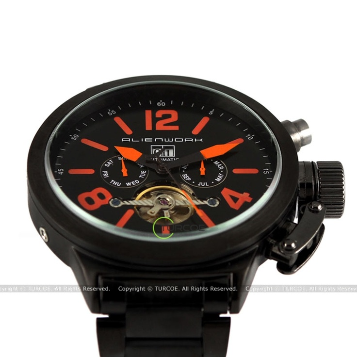 Alienwork UBoot Automatikuhr Automatik Armbanduhr Multi-funktion mechanische Uhr Edelstahl