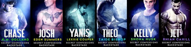 Secret Confessions Backstage: meet 6 hot rockers by 6 #erotic authors in this new series http://www.innergoddessforum.com/2015/09/secret-confessions-backstage.html