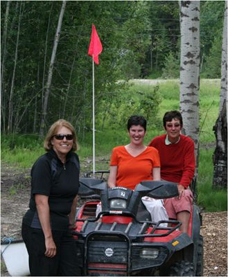 It took a lot of effort to get my down on the wetlands near Golden, BC.  It was well worth it!  On ATV with Moe & Lynda. 2008