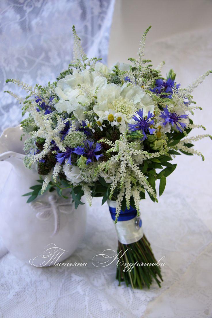 букет невесты из полевых цветов
