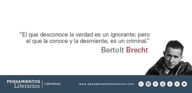 Bertolt Brecht. Sobre la verdad y las personas.