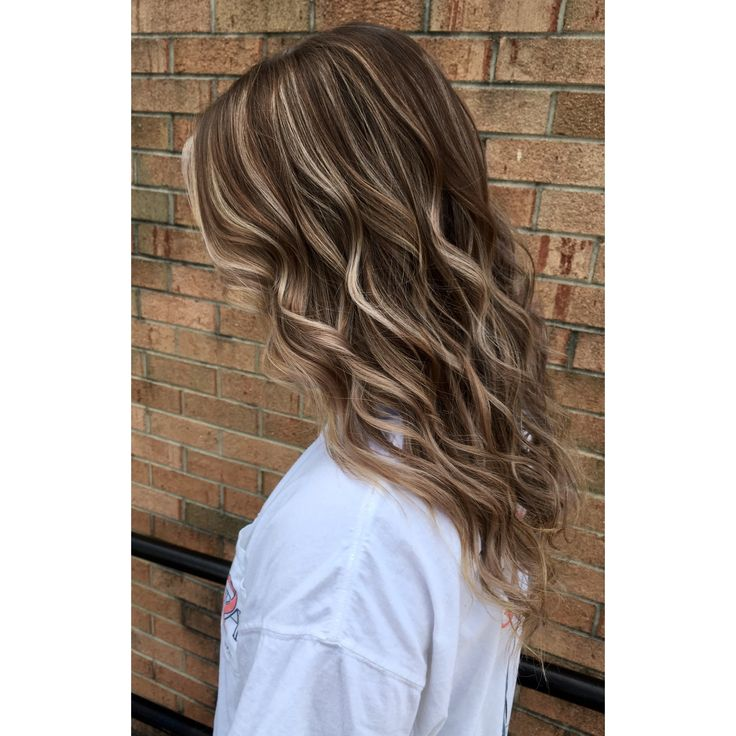 Natural light brown with chestnut lowlights and blonde highlights