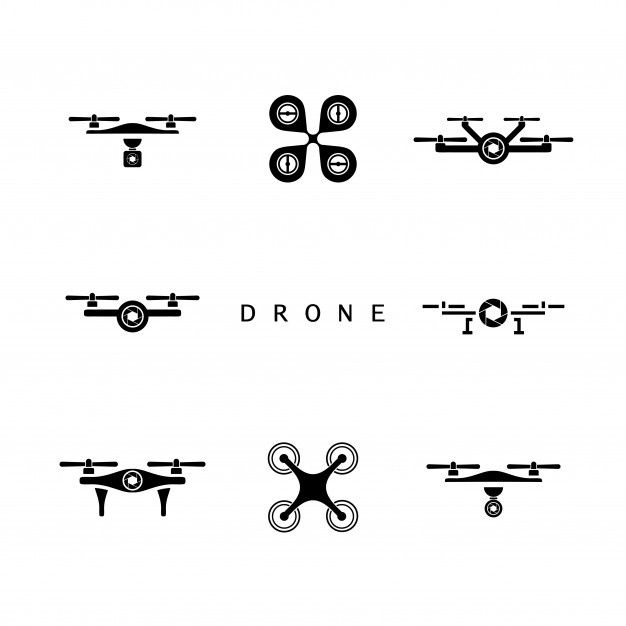 Drone Logo Design Drone Icon Set Drone Logo Drone Design Logo Design Creative