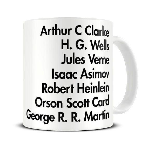 Personalised Favourite Authors Coffee Mug - Literary Gifts - Science Fiction Gift Mug - Sci Fi Gifts - Science Fiction Authors Mug - MG597