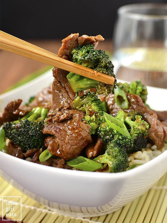 Gluten-free Lighter Broccoli Beef is easy to whip up and much lower in fat and sugar than a restaurant's.