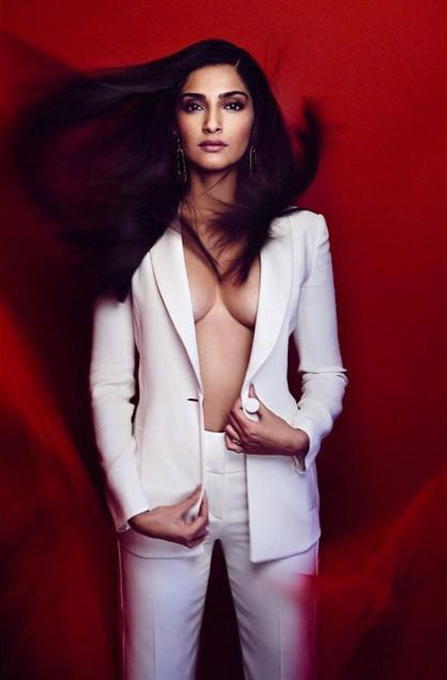 Sonam Kapoor in a photoshoot for Vogue magazine.