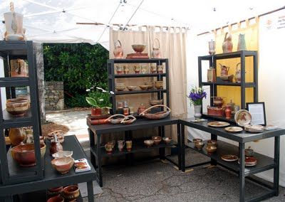 Joy Tanner Pottery: booth display
