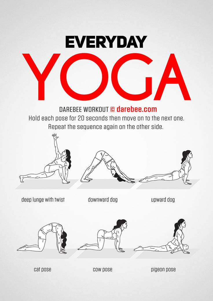 Everyday Yoga Workout by DAREBEE #darebee #workout #yoga #fitness