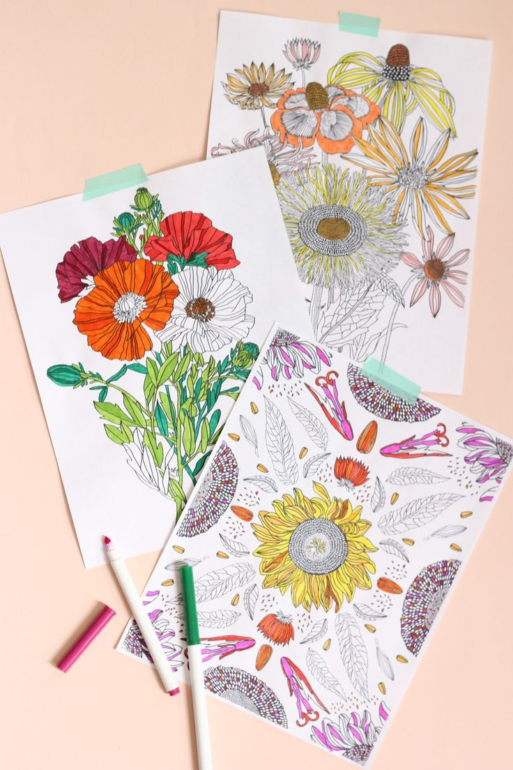 flowers coloring book - Abbi Jacobson Coloring Book