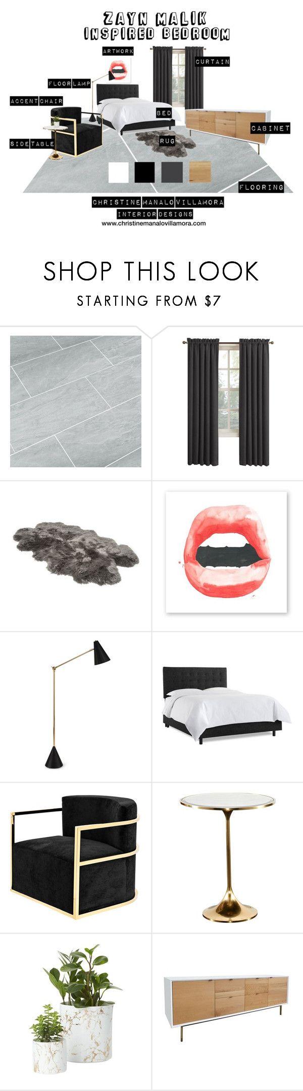 """Zayn Malik inspired bedroom"" by kath-cmvinteriordesigns on Polyvore featuring interior, interiors, interior design, home, home decor, interior decorating, Sun Zero, UGG, Jonathan Adler and Eichholtz"