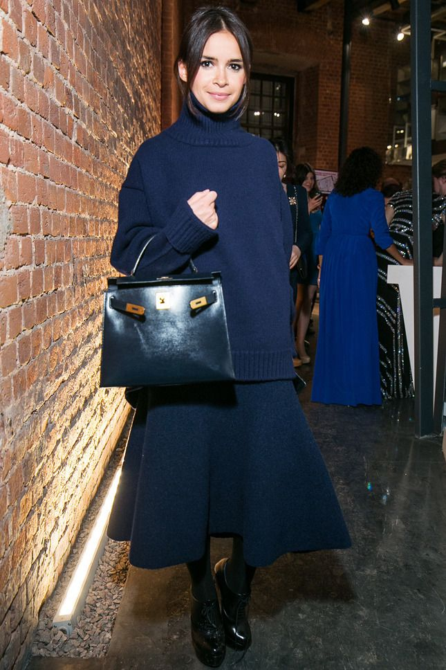 Miroslava Duma in Céline and Hermès bag