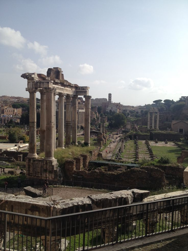 The Foro Romano located near the Colosseum, was the very heart of ancient Rome during the Republican and Imperial periods.