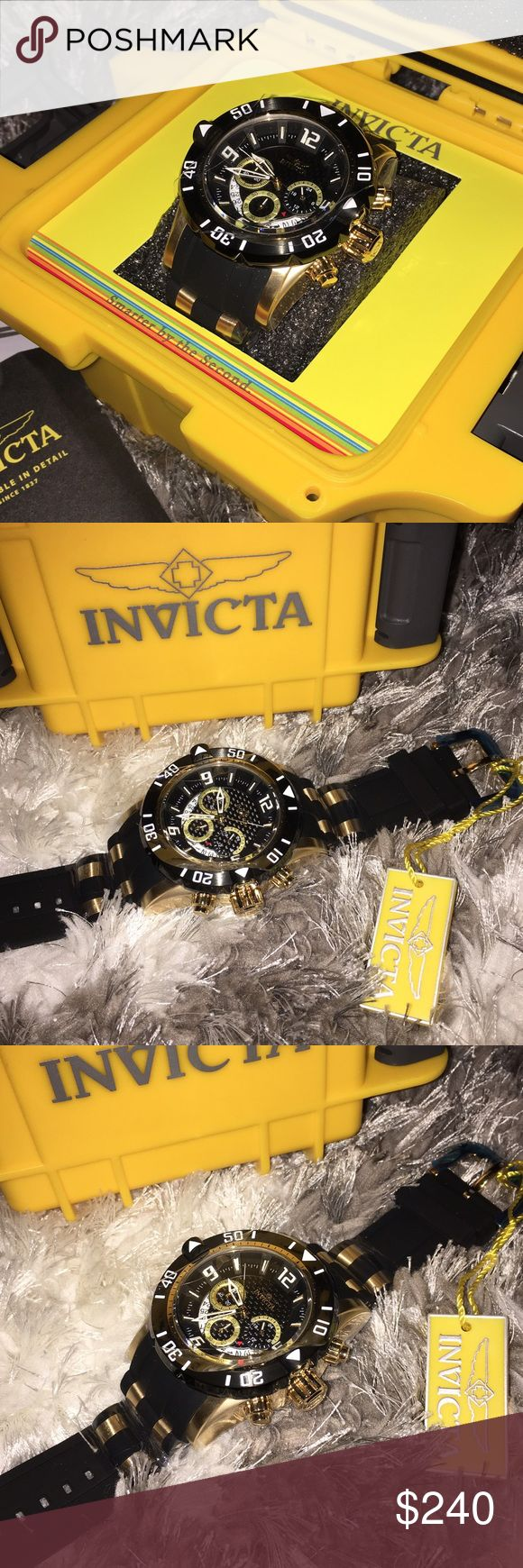Nwt 100% Authentic Invicta Mens Watch Nwt 100% Authentic Invicta Mens Watch Retail: $395 Color: Black/Gold  Price is firm.. Thank you.. Invicta Accessories Watches
