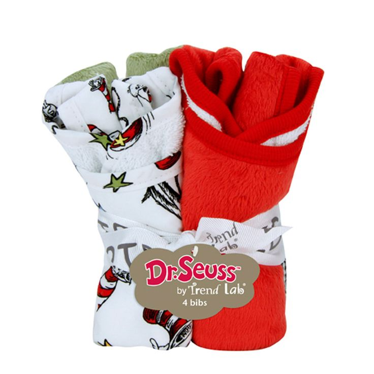 Bouquet 4 Pack Bib Dr Seuss Cat In The Hat Baby Gift