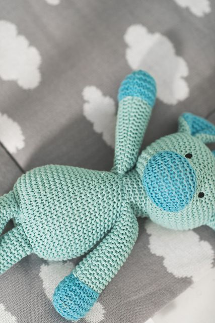 Stuffed animal Chunky knit jade by Jollein | Babyuitzetonline.nl