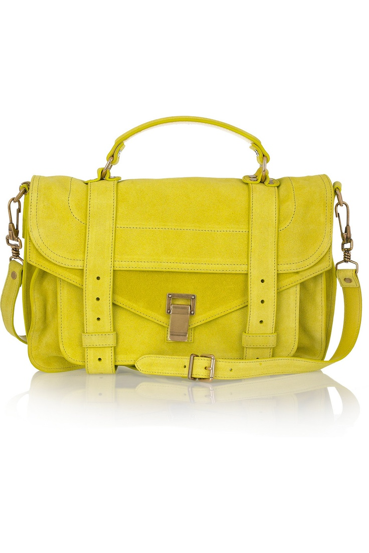 PS1 Medium Suede Satchel.  I must invest in a neon bag by summer!  This one's pretty fab...