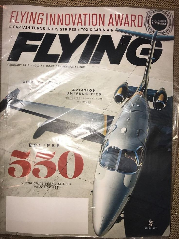 Flying Aviation Magazine February 2017 Innovation Award AVIATION UNIVERSITIES  | eBay