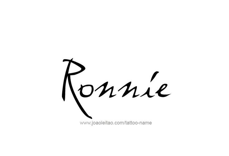Ronnie Name Tattoo Designs Tattoo Designs Wrist Tattoo