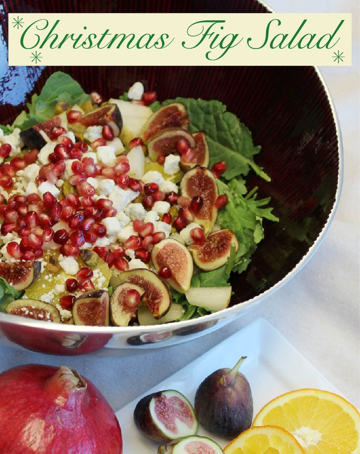 Are you looking for a salad that not only tastes amazing but looks the part too? This Christmas Fig Salad with pear, figs, pomegranate, and creamy Simply Artisan Reserve Gorgonzola is sure to be one of your best meals this Christmas!