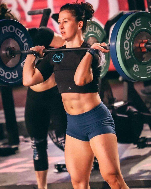 Crossfit S 2019 Rogue Invitational Mat Fraser Tia Clair Toomey And Rich Froning Look To Rei Female Crossfit Athletes Fitness Models Female Crossfit Girl