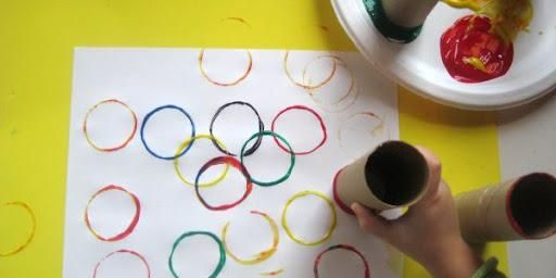 Summer Olympics - Colors, Fine Motor Skills, & Olympic Rings!