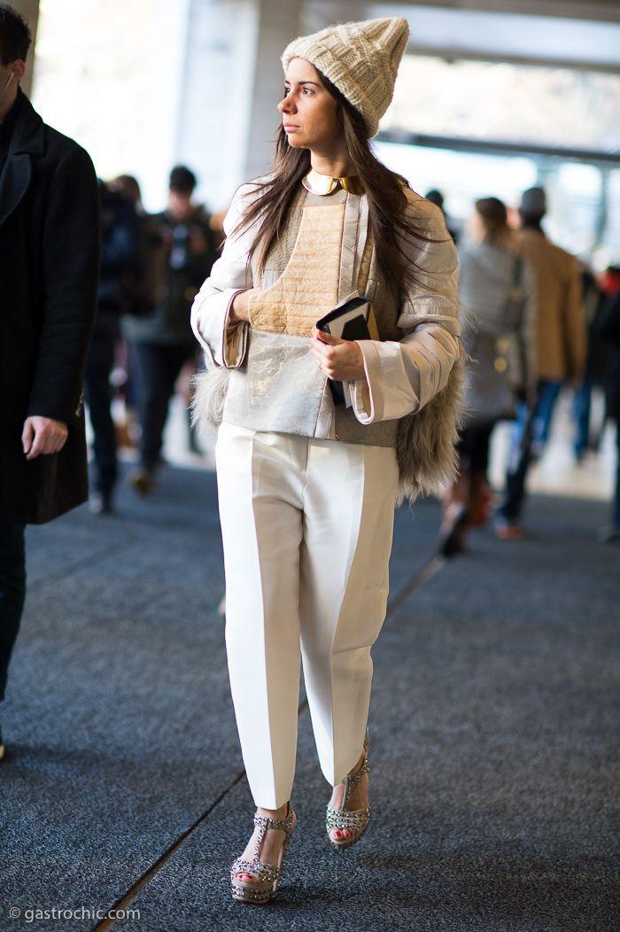 Natasha Goldenberg at Diane von Furstenberg #streetstyle #fashion #natashagoldenberg on http://www.gastrochic.com