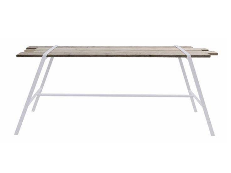 Wooden garden table Natsiq Collection by Bleu Nature | design Bastien Taillard, Frank Lefebvre