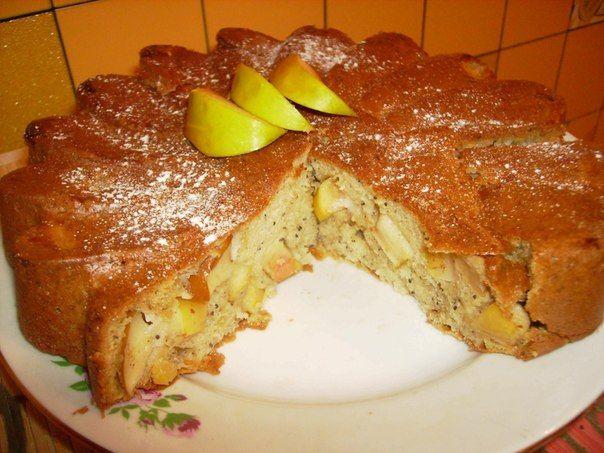 Рецепт песочный яблочный пирог