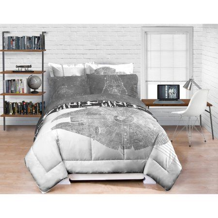 Free Shipping on orders over $35. Buy Star Wars Millennium Falcon Bedding Comforter- Exclusive at Walmart.com