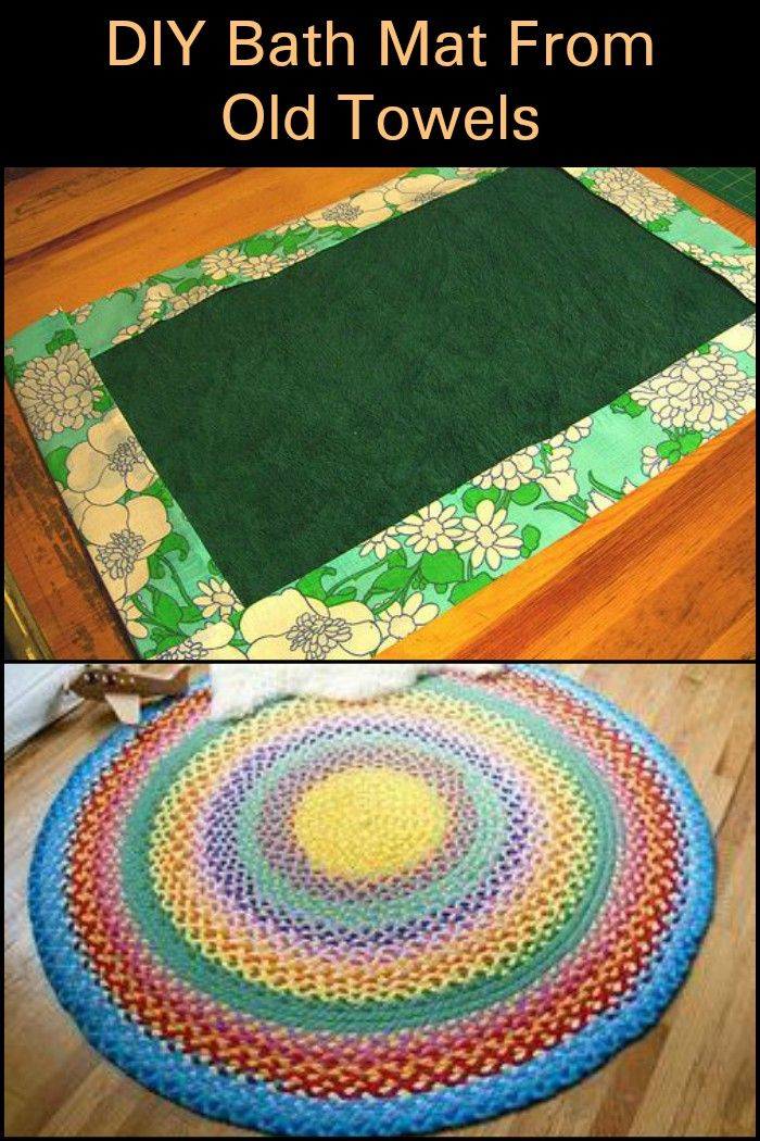 Make Your Own Soft And Super Absorbent Bath Mat From Old Towels