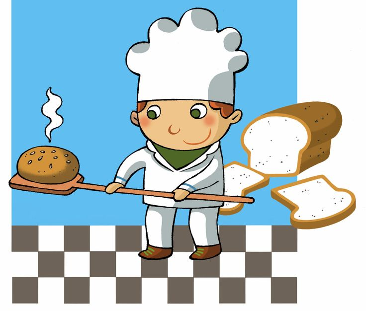 Baker Baking Bread Cartoons Bread Baking Bread Baking