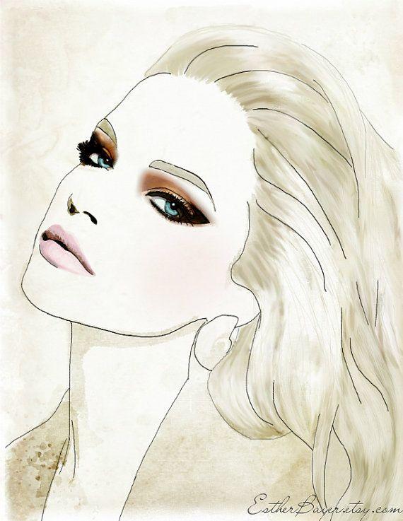 Esther Bayer Fashion Illustration: Paris Fashion, Faces Charts, Fashion Models, Vogue Paris, French Vogue, Art Prints, Drawing, Fashion Illustrations, Fashion Sketch