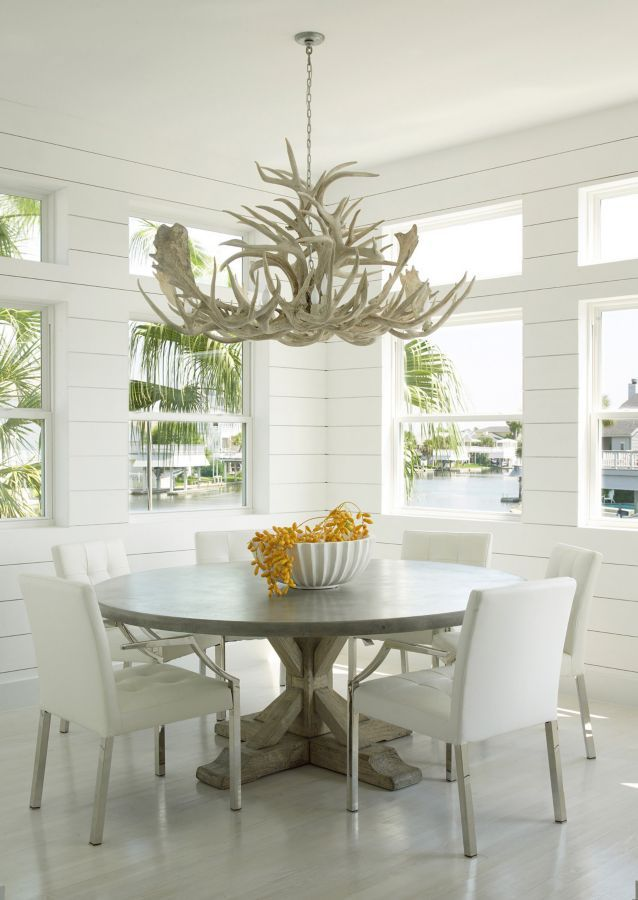 This White Dining Area Completed By @lauracsingleton Offers A Stellar  Outdoor Connection. #luxeAustin