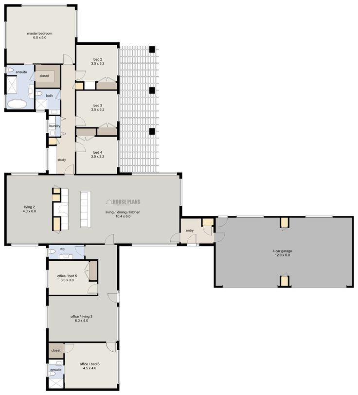 Zen lifestyle 1 6 bedroom house plans new zealand ltd for Eight bedroom house plans