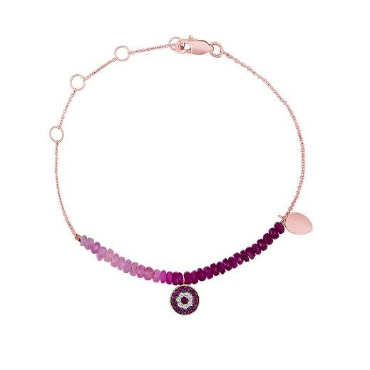 Meira T. Ruby Evil Eye Bracelet at London Jewelers!