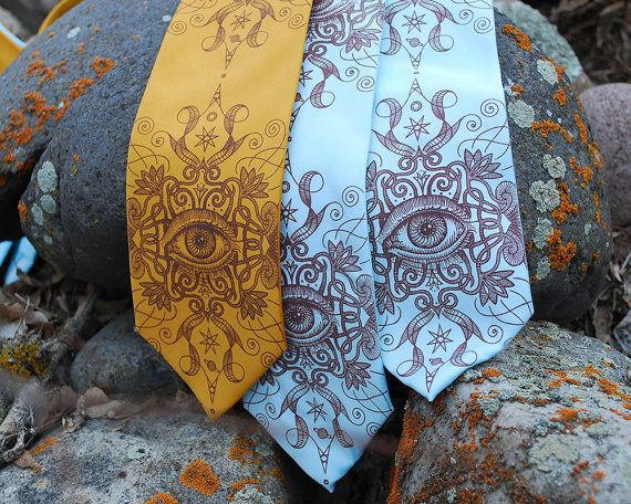 Psychedelische Auge Krawatte - Siebdruck binden